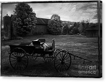 Antique Horse Drawn Wagon Canvas Print by Thomas Schoeller