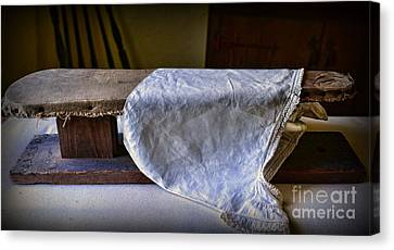Laundry Mat Canvas Print - Antique Ironing Board by Paul Ward