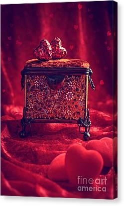 Antique Jewel Casket Canvas Print by Amanda Elwell