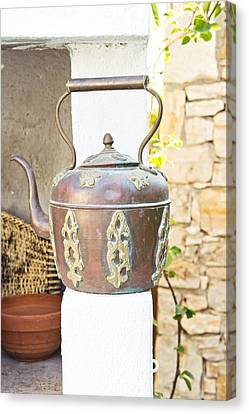 Antique Kettle Canvas Print by Tom Gowanlock