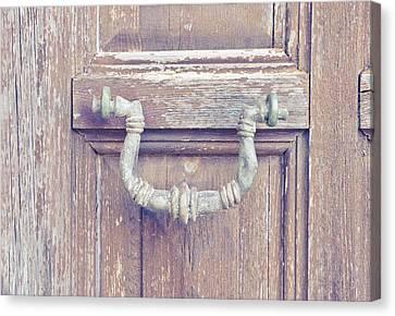 Medieval Entrance Canvas Print - Antique Knocker by Tom Gowanlock