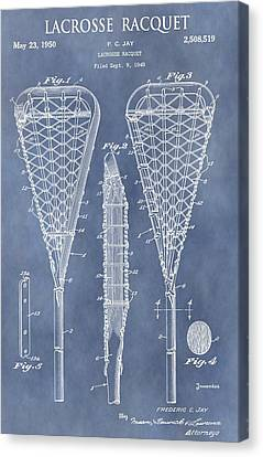 Antique Lacrosse Racquet Patent Canvas Print by Dan Sproul
