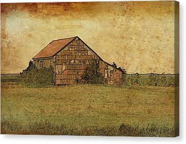 Antique Little Barn Canvas Print by Susan Crossman Buscho
