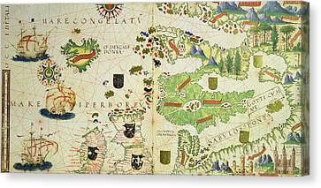 Pedro Canvas Print - Antique Map Of Europe by Pedro Reinel