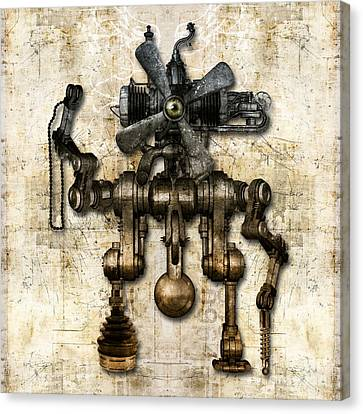 Antique Mechanical Figure Canvas Print by Diuno Ashlee