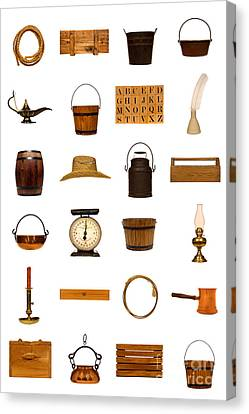 Antique Objects Collection Canvas Print