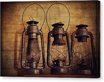 Antique Oil Lamps Canvas Print by Maria Angelica Maira