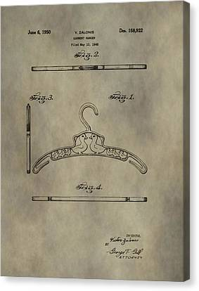 Antique Patent Art Hanger Canvas Print