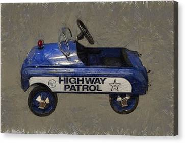 Antique Pedal Car V Canvas Print by Michelle Calkins