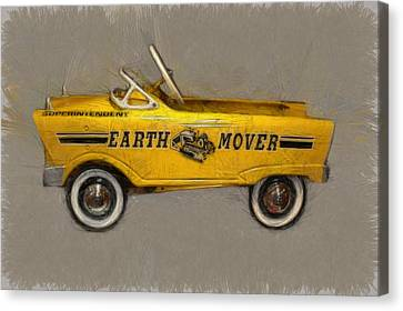 Antique Pedal Car Vl Canvas Print by Michelle Calkins