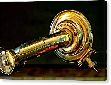 Canvas Print featuring the photograph Antique Phonograph Tonearm by Stephen Anderson