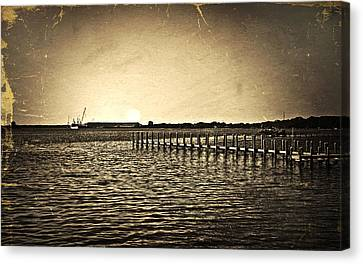 Antique Photo Of Pier  Canvas Print