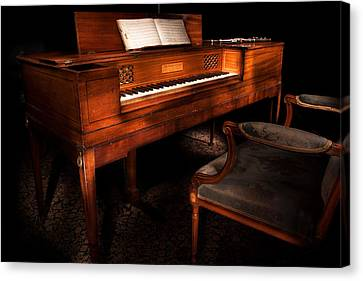 Antique Piano Paxton House Canvas Print by Niall McWilliam