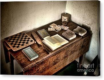 Antique Play Desk Canvas Print by Olivier Le Queinec