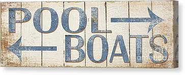 Antique Pool Boat Sign Canvas Print by Grace Pullen