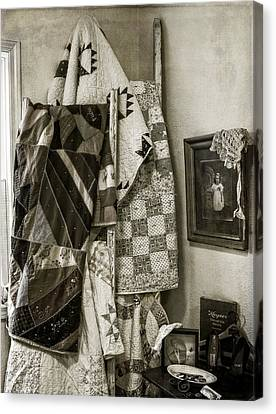 Antique Quilts Canvas Print by Wayne Meyer