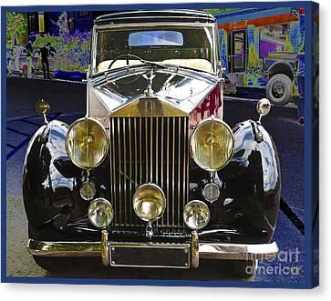 Canvas Print featuring the digital art Antique Rolls Royce by Victoria Harrington