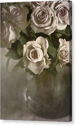 Canvas Print featuring the photograph Antique Roses by Annie Snel