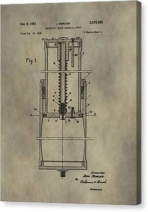 Antique Shock Absorber Patent Canvas Print