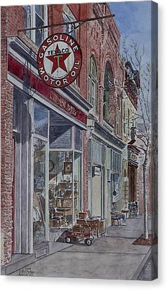 Antique Shop Beacon New York Canvas Print by Anthony Butera