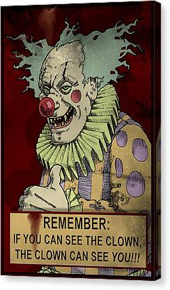 Scary Canvas Print - Antique Sign by H James Hoff