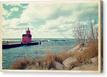 Antique Snapshot Series - Big Red Canvas Print by Michelle Calkins