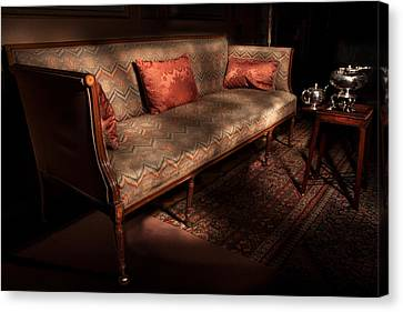Antique Sofa And Tea Set Paxton House Canvas Print by Niall McWilliam