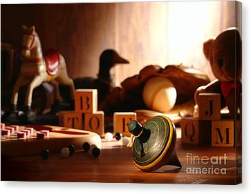 Antique Spinning Top Canvas Print by Olivier Le Queinec