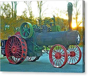 Antique Steam Tractor Canvas Print by Pete Trenholm