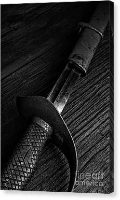 Antique Sword Black And White Canvas Print