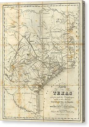 Antique Texas Map 1841 Canvas Print by Dan Sproul