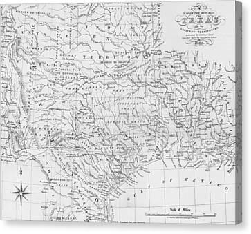 Antique Texas Map Canvas Print