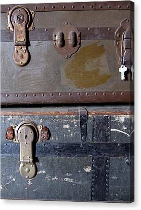 Antique Trunks 5 Canvas Print by Anita Burgermeister