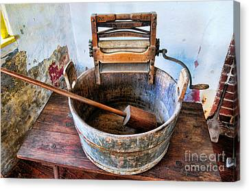 Antique Washing Machine Canvas Print by Paul Ward