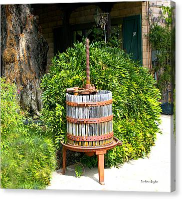 Tasting Canvas Print - Antique Wine Press 1 by Floyd Snyder