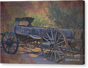 Wooden Wagons Canvas Print - Antique Wooden Wagon by Beverly Guilliams