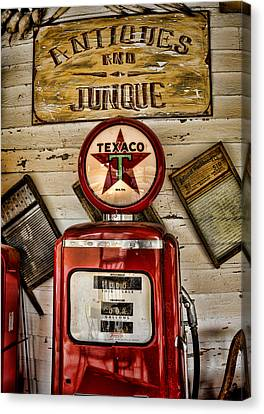 Antiques And Junque Canvas Print by Heather Applegate