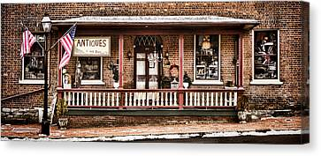 Antiques Bought And Sold Canvas Print by Heather Applegate