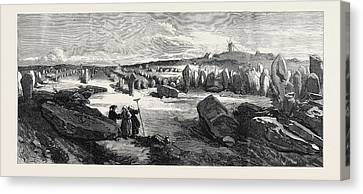 Antiquities Canvas Print - Antiquities Carnac In Brittany The Lines Of Carnac by English School