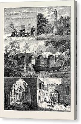 Antiquities Canvas Print - Antiquities In The Vicinity Of Belfast 1. Cromlech Giants by English School