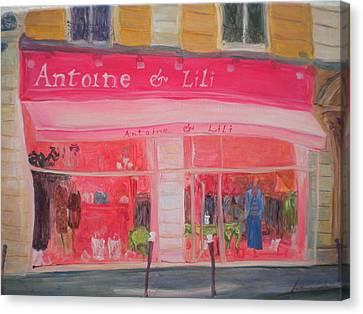 Antoine & Lili, 2010 Oil On Canvas Canvas Print by Antonia Myatt