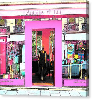 Antoine Et Lili Paris Canvas Print by Jan Matson