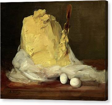 Antoine Vollon French, 1833 - 1900, Mound Of Butter Canvas Print by Quint Lox