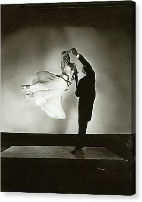 Entertainment Canvas Print - Antonio And Renee De Marco Dancing by Edward Steichen