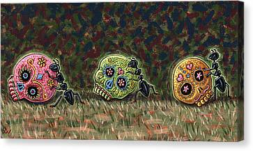 Ants And Sugar Skulls Canvas Print