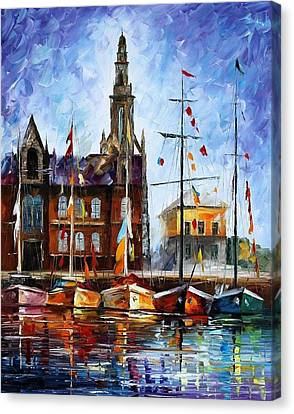 Antwerp - Belgium Canvas Print by Leonid Afremov