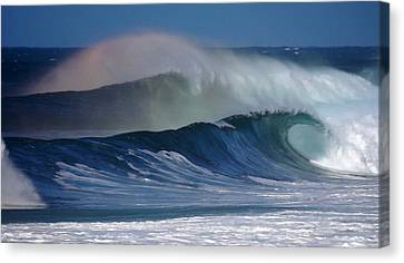 Anuenue Surf Hawaii Canvas Print by Kevin Smith