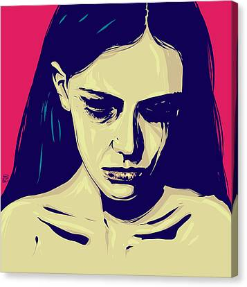 Sadness Canvas Print - Anxiety by Giuseppe Cristiano