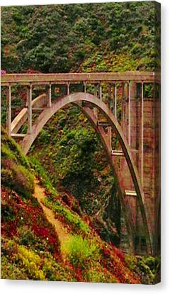 Anyone Seen The Bridge Canvas Print by Sharon Costa