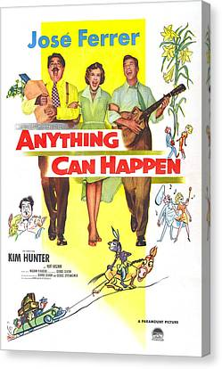 1950s Poster Art Canvas Print - Anything Can Happen, Us Poster by Everett